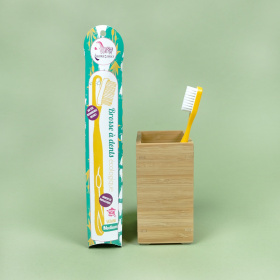 Brosse à dents rechargeable - Jaune, tête medium - Lamazuna