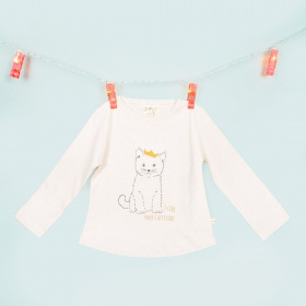 T-shirt Tania Cream Chat - Les petites choses